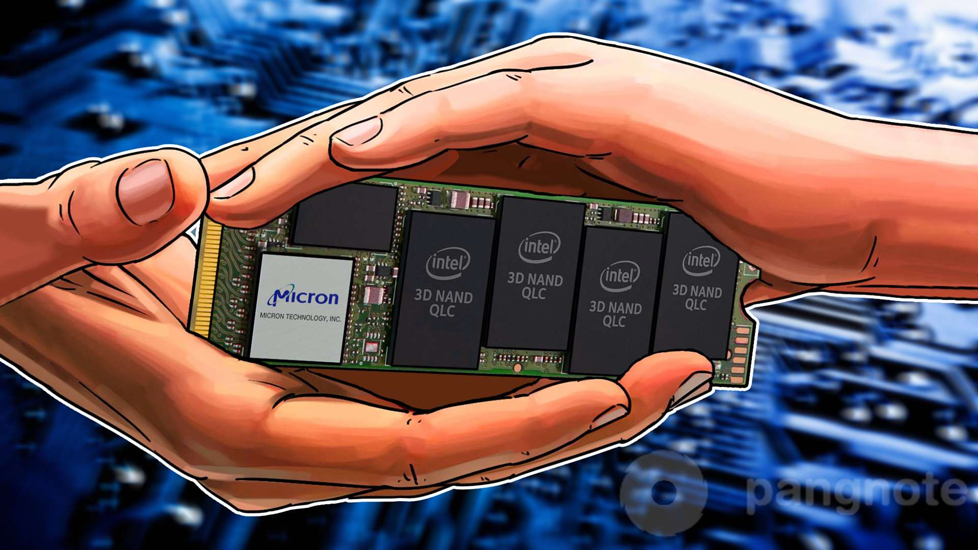SSD based on 64-layer 3D NAND developed by Intel and Micron
