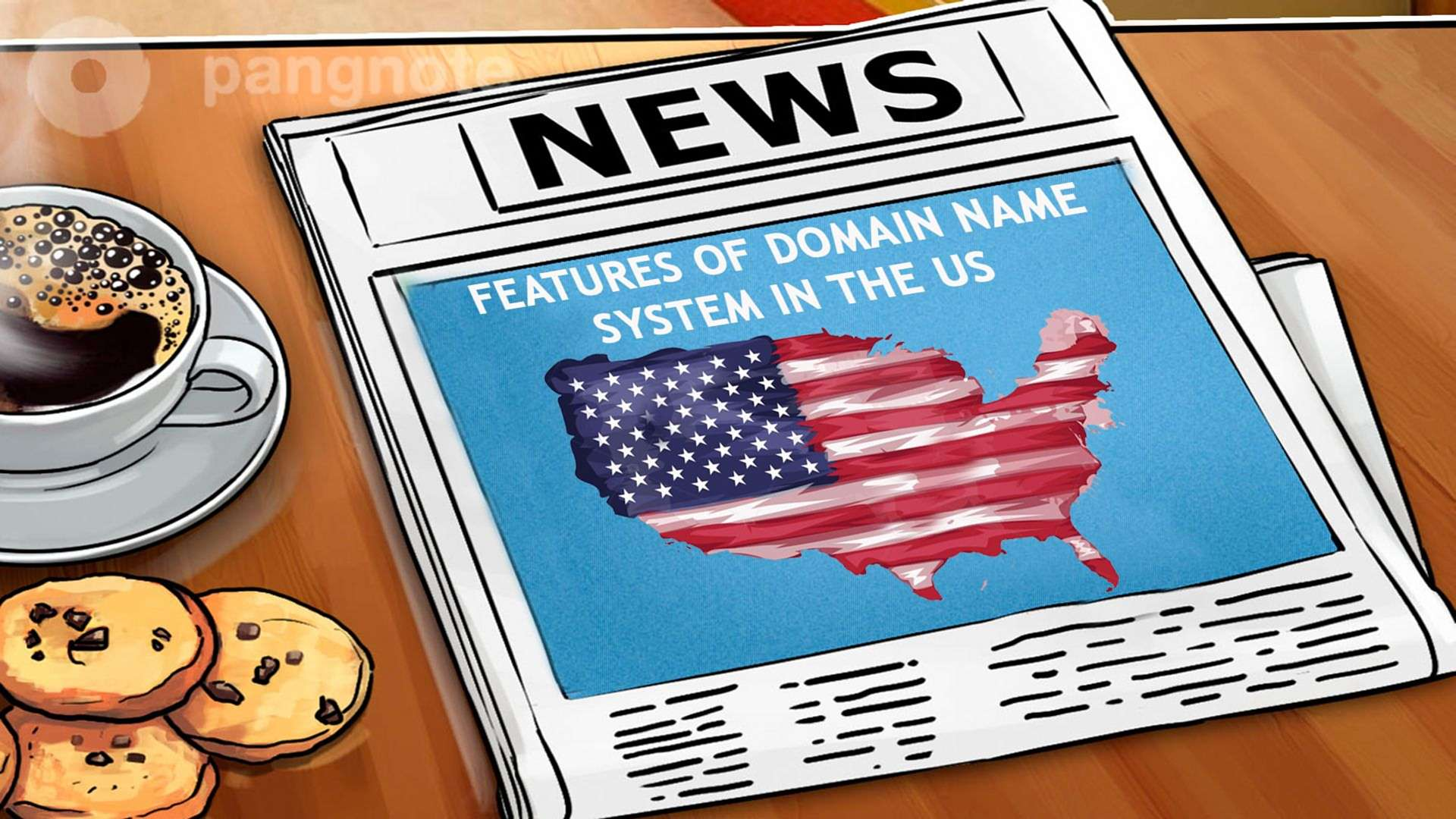 Features of domain name system in the US