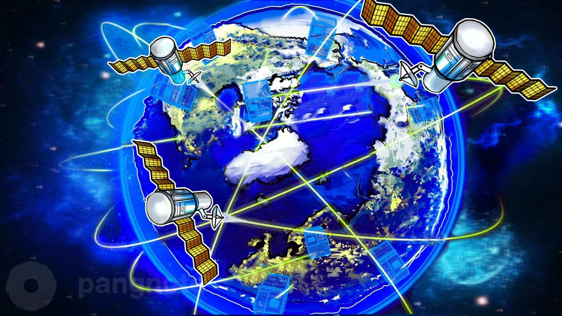 To create a global network it is proposed to use space lasers