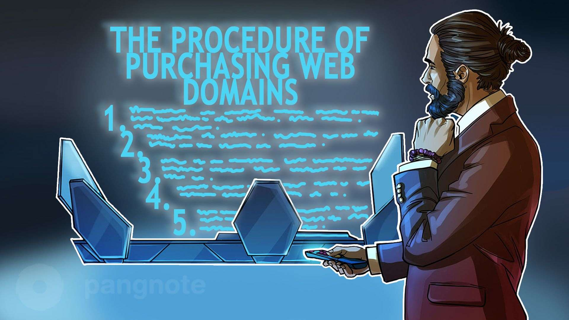 The procedure of purchasing web domains