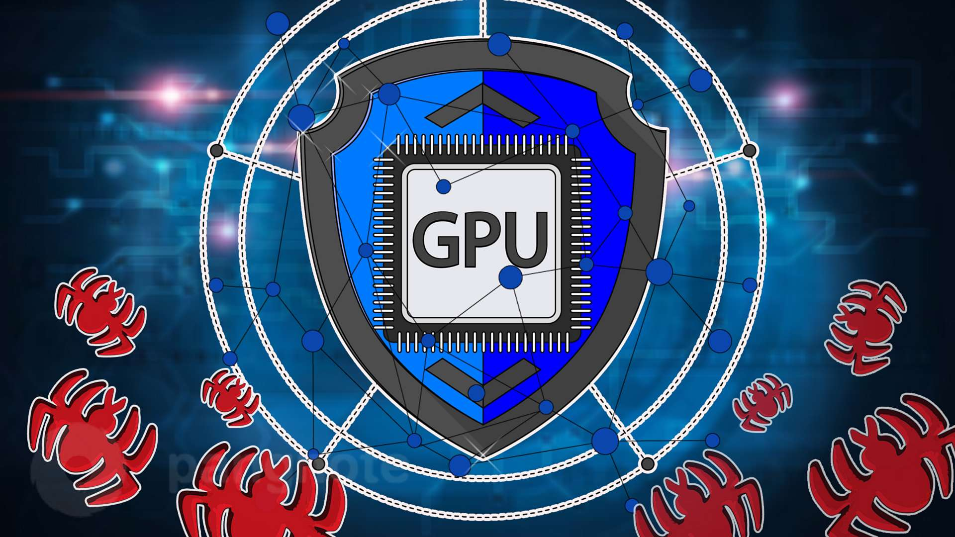 Using graphics processors to protect against virus attacks