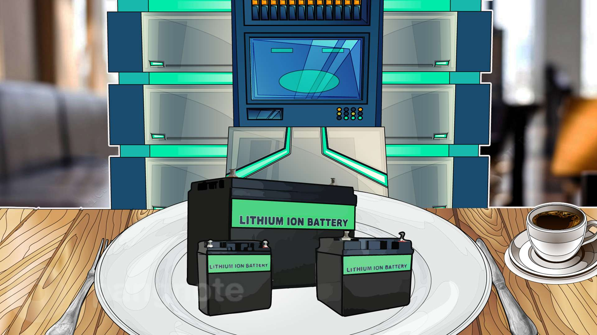 Lithium-ion batteries as UPS in the data center