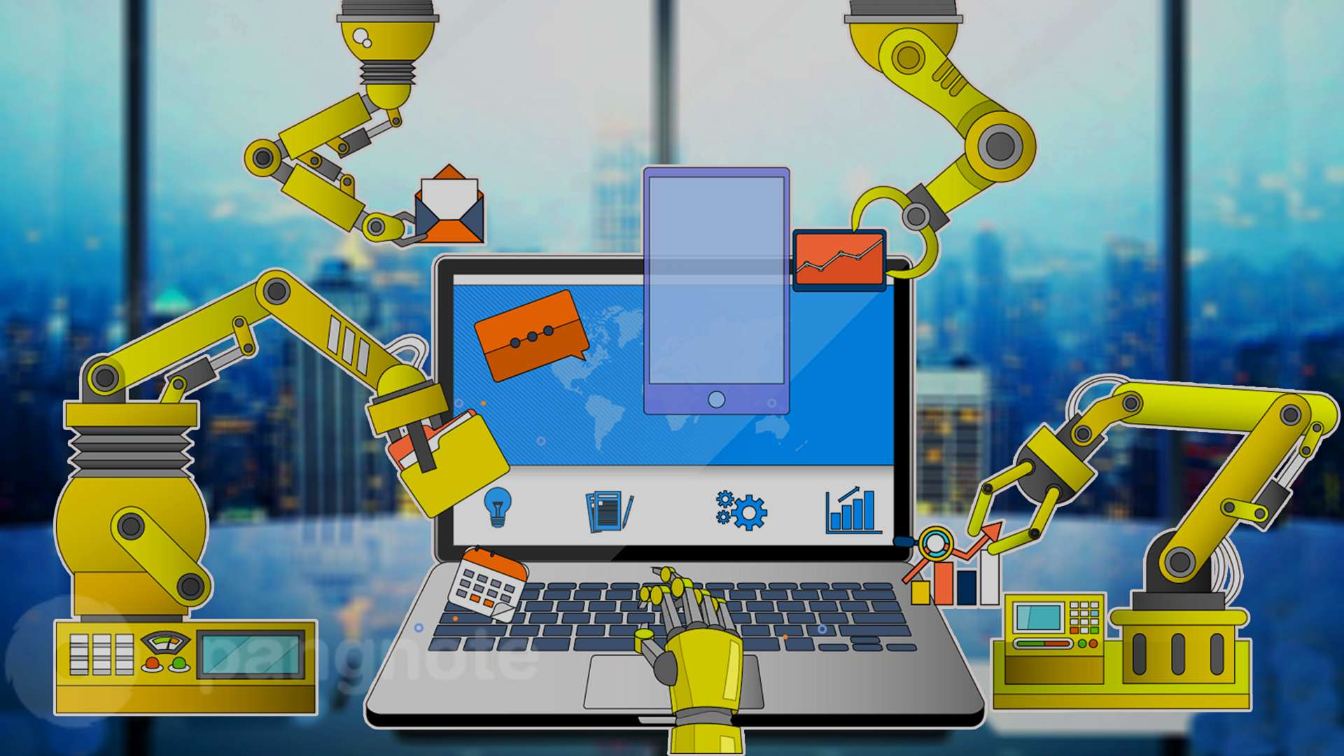Automation of processes for business